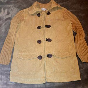 Denum & Co 100% Cotton Corduroy & Sweater Coat